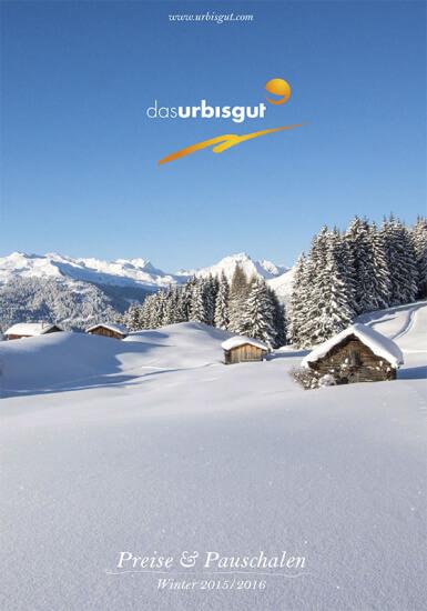 Hotel Das Urbisgut - Winterpreisliste 2015/16