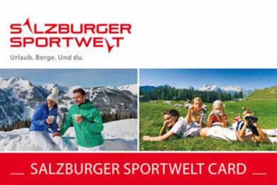 Salzburger Sportwelt Card - kostenlos für Gäste in der Salzburger Sportwelt